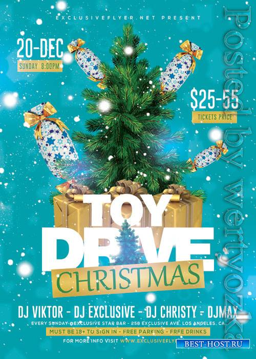 Xmas toy drive - Premium flyer psd template
