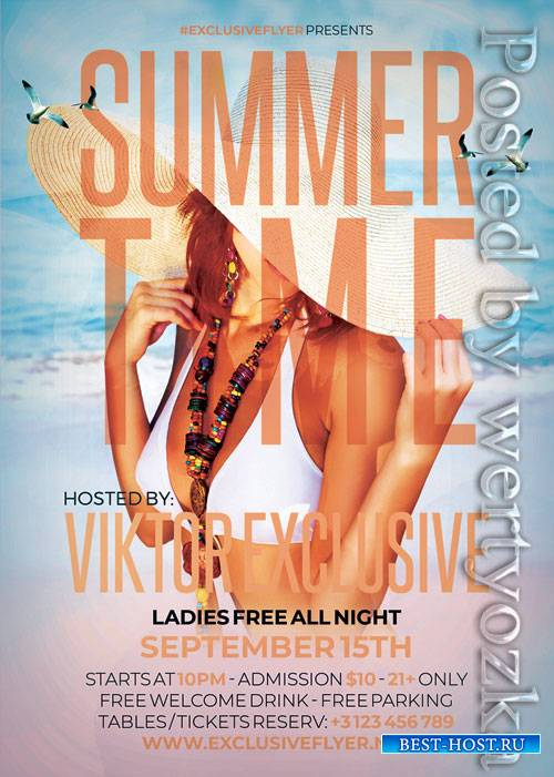 Summer time nights - Premium flyer psd template