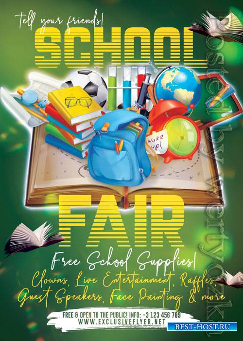 School fair - Premium flyer psd template