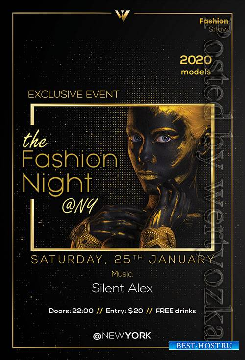 Fashion Night - Premium flyer psd template