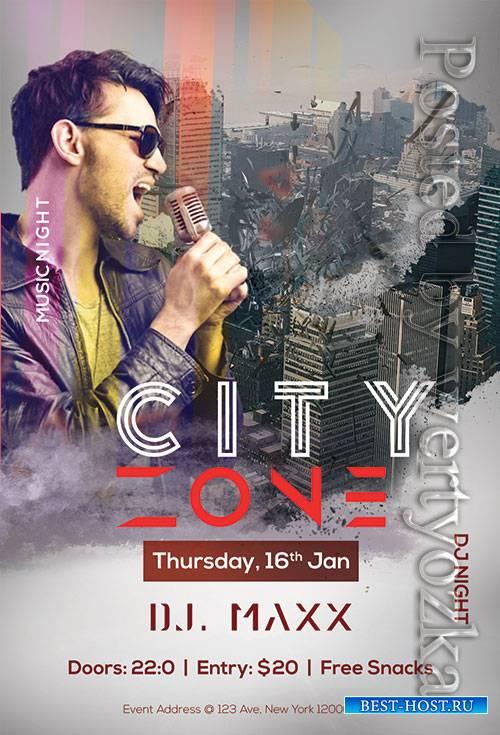 City Zone - Premium flyer psd template