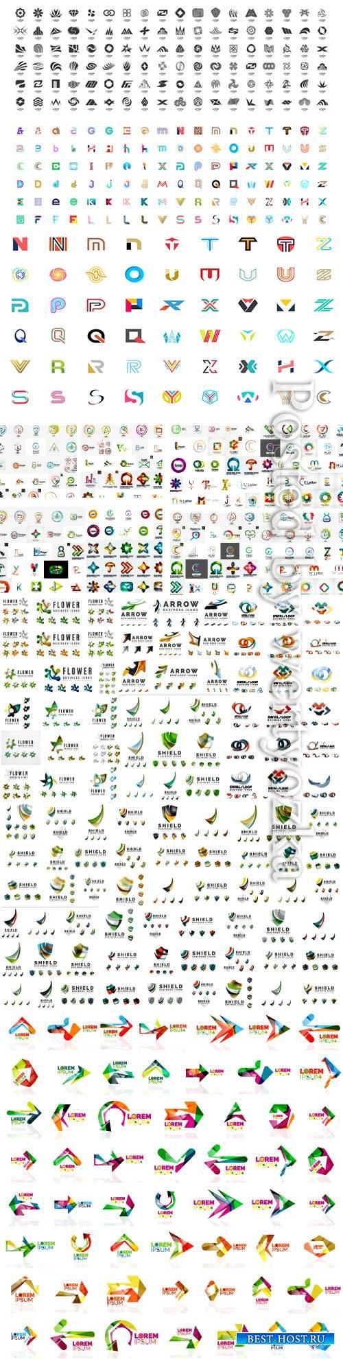 Vector abstract mega company logos collection # 2