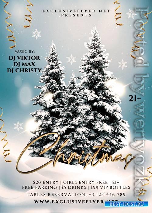 Jingle bells christmas - Premium flyer psd template
