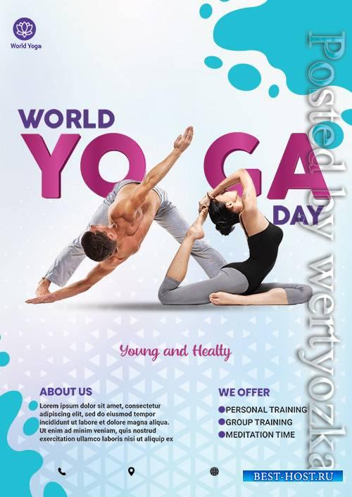 World Yoga Day - Premium flyer psd template