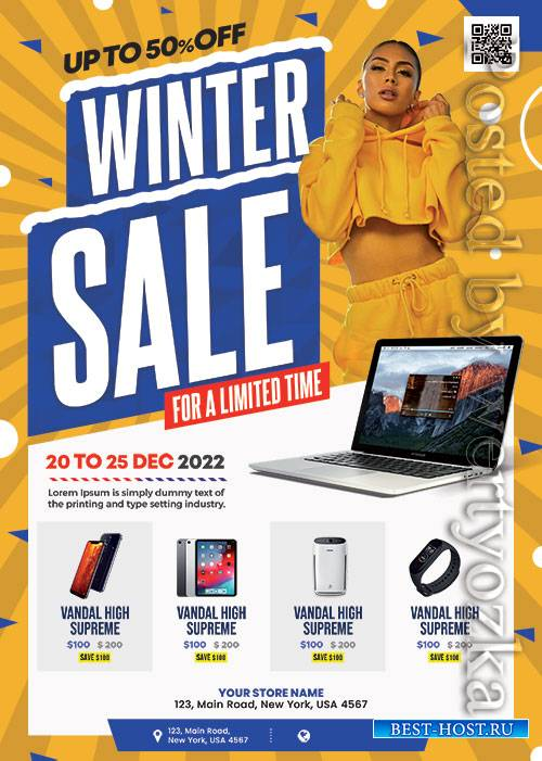 Winter Sale Flyer - Premium flyer psd template