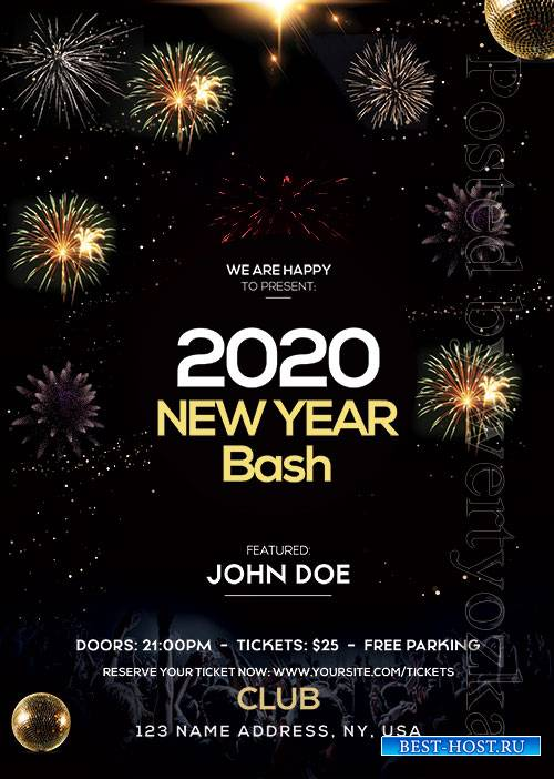 New Year Bash - Premium flyer psd template