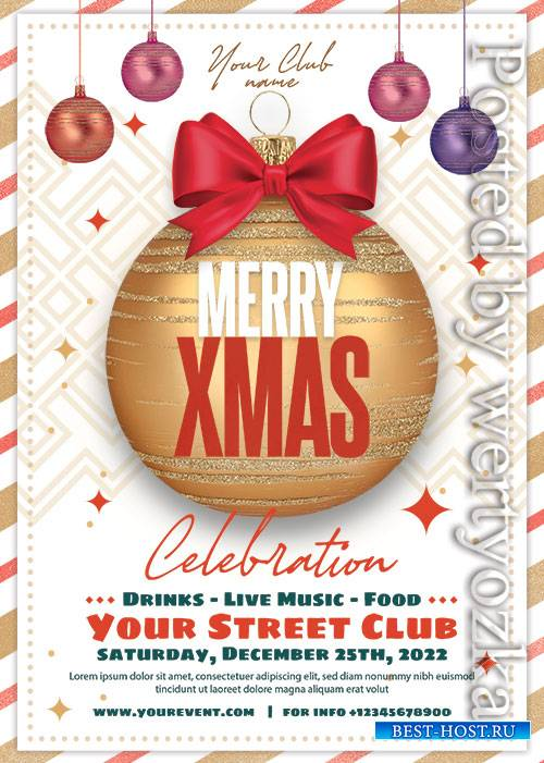 Christmas Club Event - Premium flyer psd template