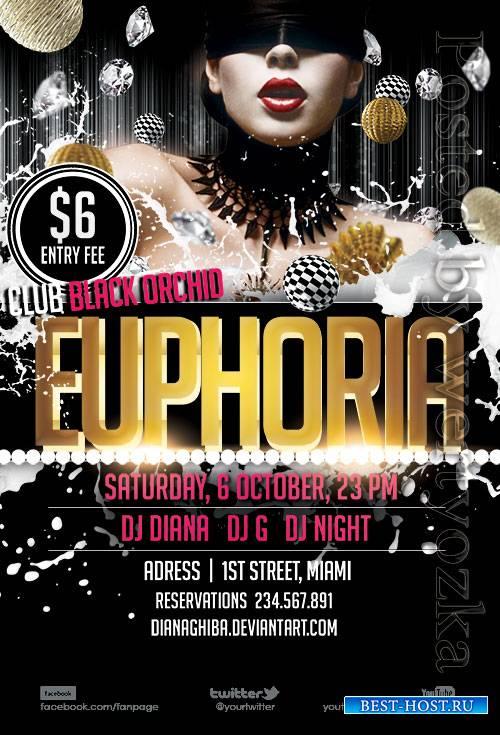 Euphoria - Premium flyer psd template