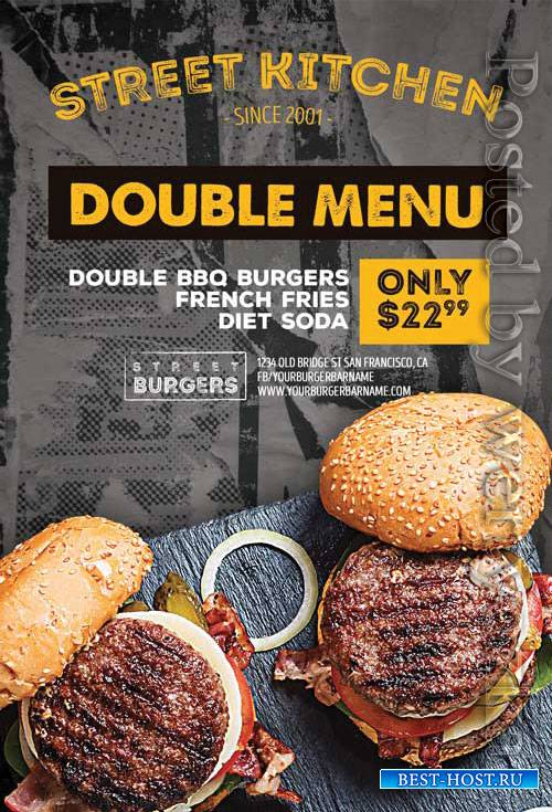 Burger Kitchen - Premium flyer psd template