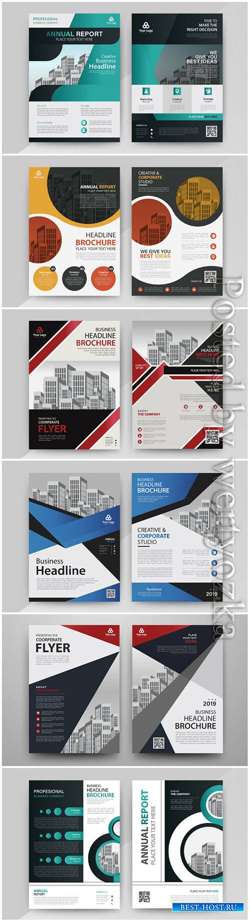 Business abstract vector brochure, annualReport, magazine # 5