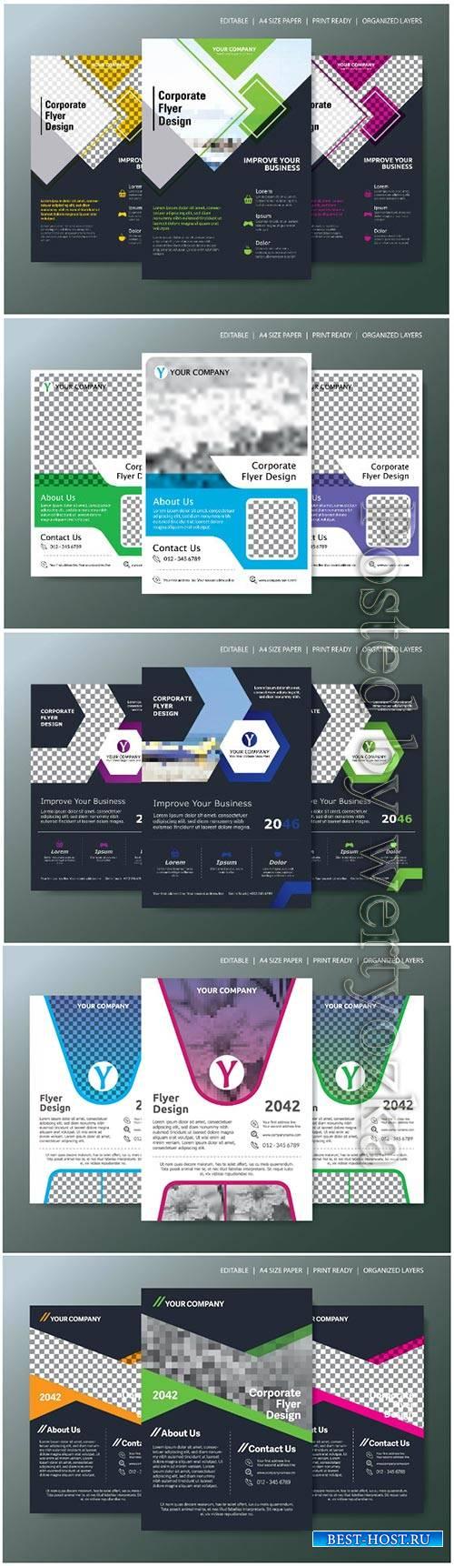 Business abstract vector brochure, annualReport, magazine
