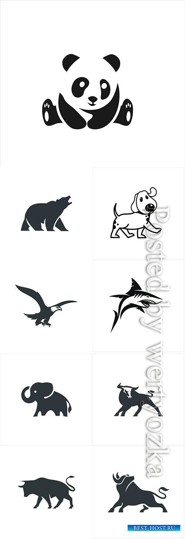 Animal logo in vector