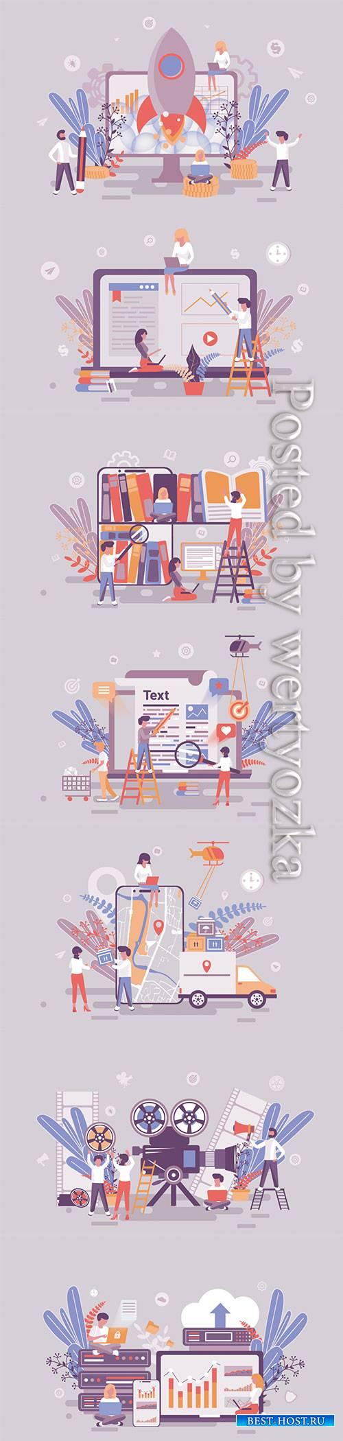 Flat isometric vector 3D concept illustration # 107