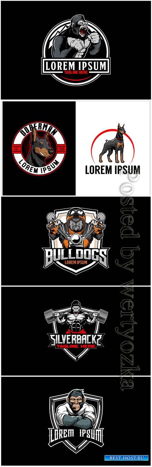 Badge logo vector template