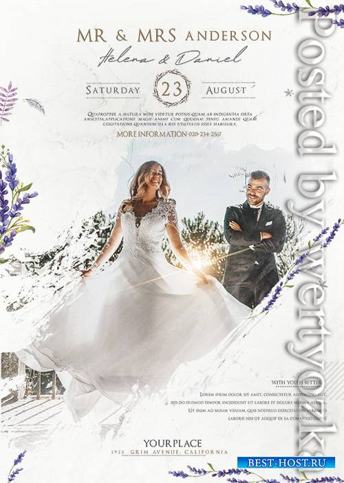 Wedding Agency - Premium flyer psd template