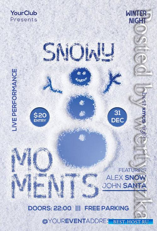 Snowy Moments - Premium flyer psd template