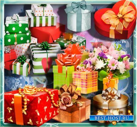Клипарты для фотошопа - Подарочные наборы