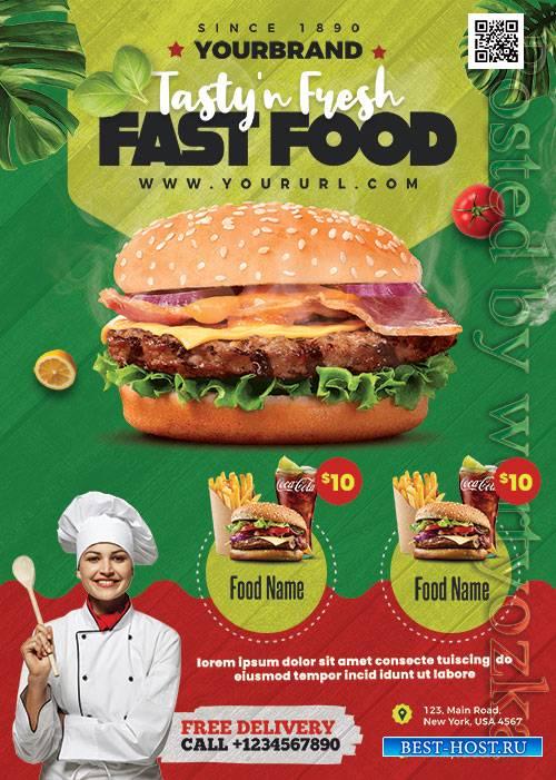 Fast Food Menu - Premium flyer psd template