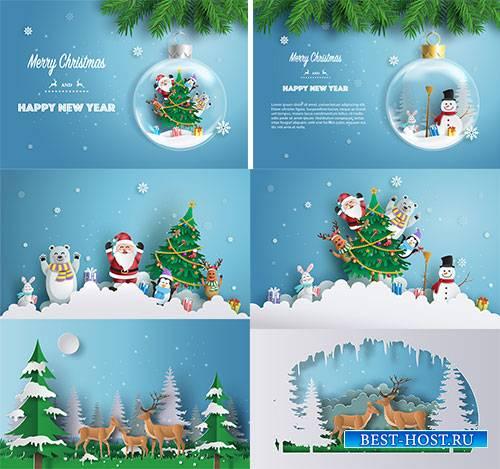 Новогоднее ассорти 7 - Векторный клипарт / Christmas pictures 7 - Vector Gr ...
