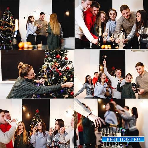 Здравствуй праздник Новый Год - Растровый клипарт / Hello New Year holiday - Raster clipart