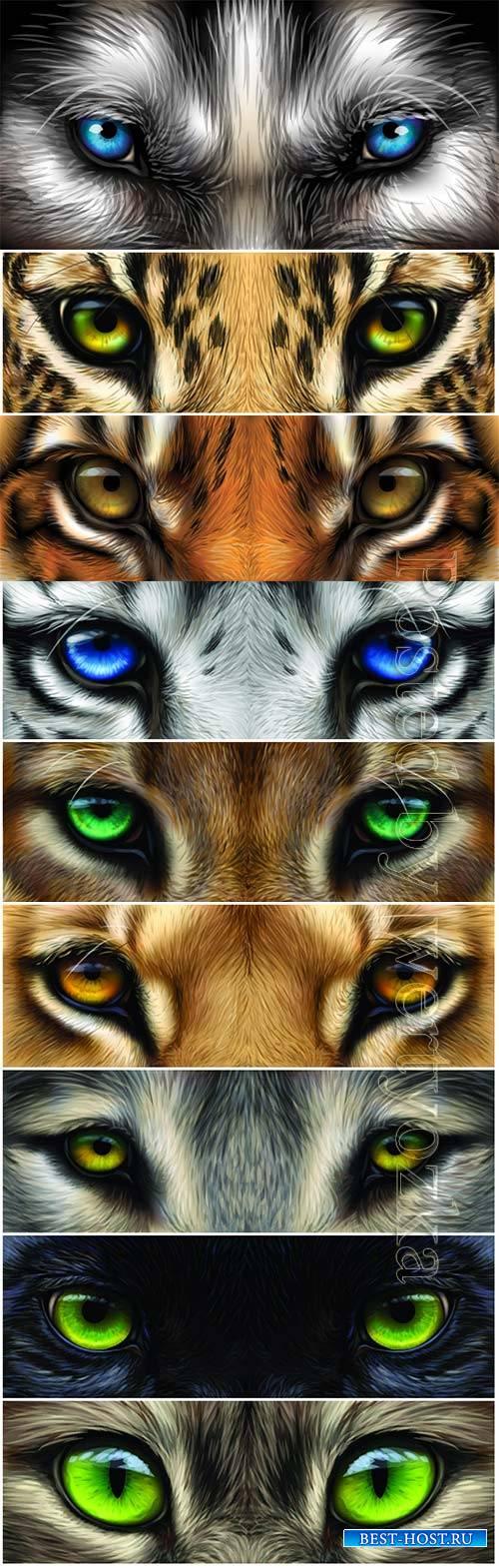 Big eyes animals close-up