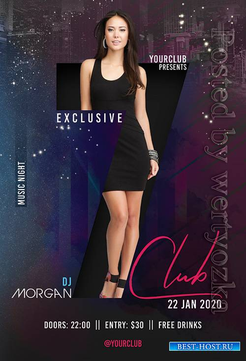 Club - Premium flyer psd template