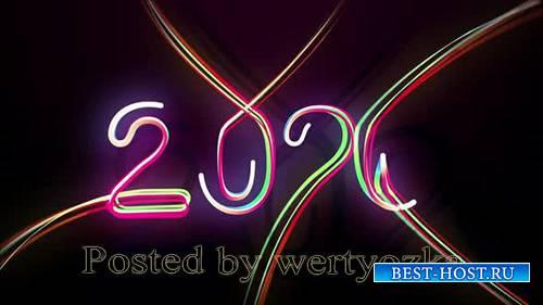 Videohive - 2020 Multicolored Neon Numerals Happy New Year - 25319342