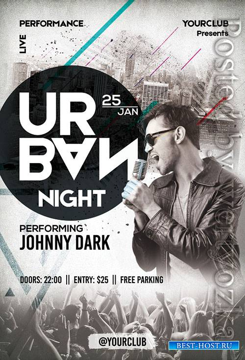 Urban Night - Premium flyer psd template