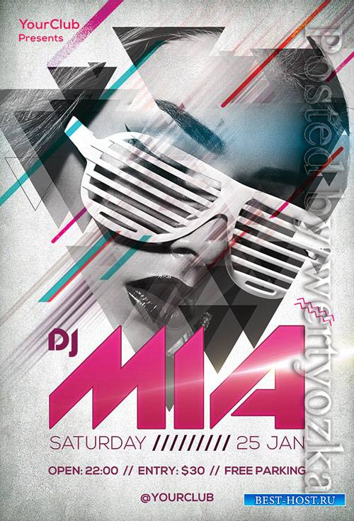 DJ Mia - Premium flyer psd template