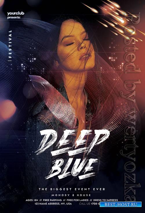 Deep Blue Club - Premium flyer psd template