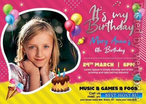 Birthday Invitation Card - Premium flyer psd template