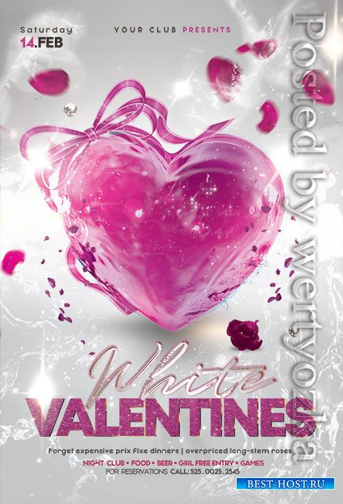 Elegant Valentines Day - Premium flyer psd template