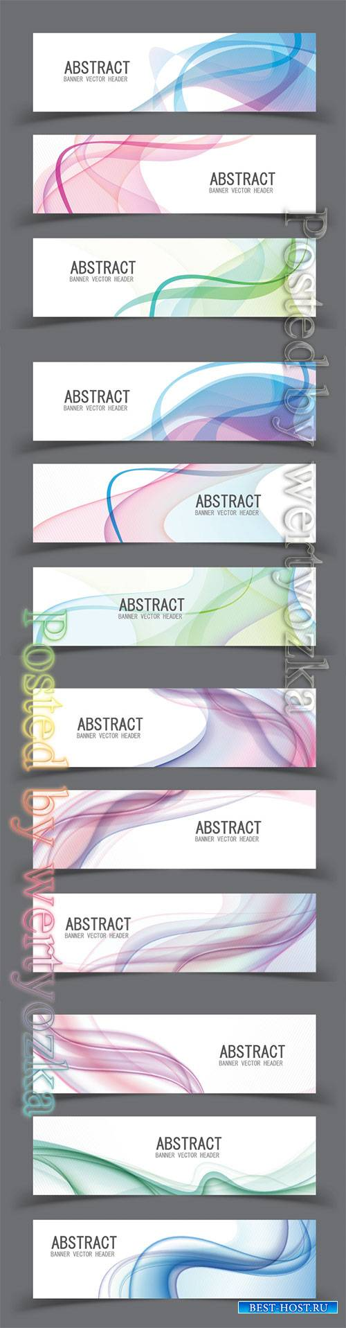 Vector abstract design banner template