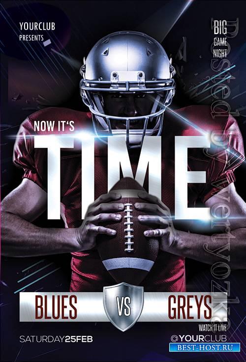 Football Time - Premium flyer psd template