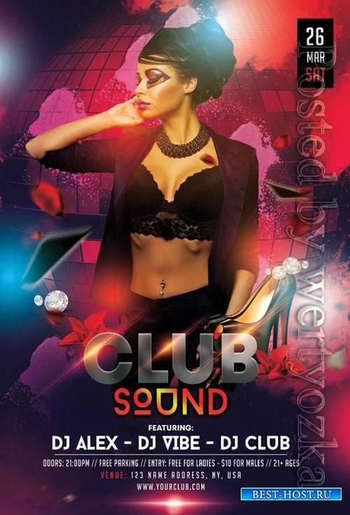 Club sound - Premium flyer psd template