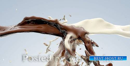 Videohive - Milk and chocolate fluid collision -  76716