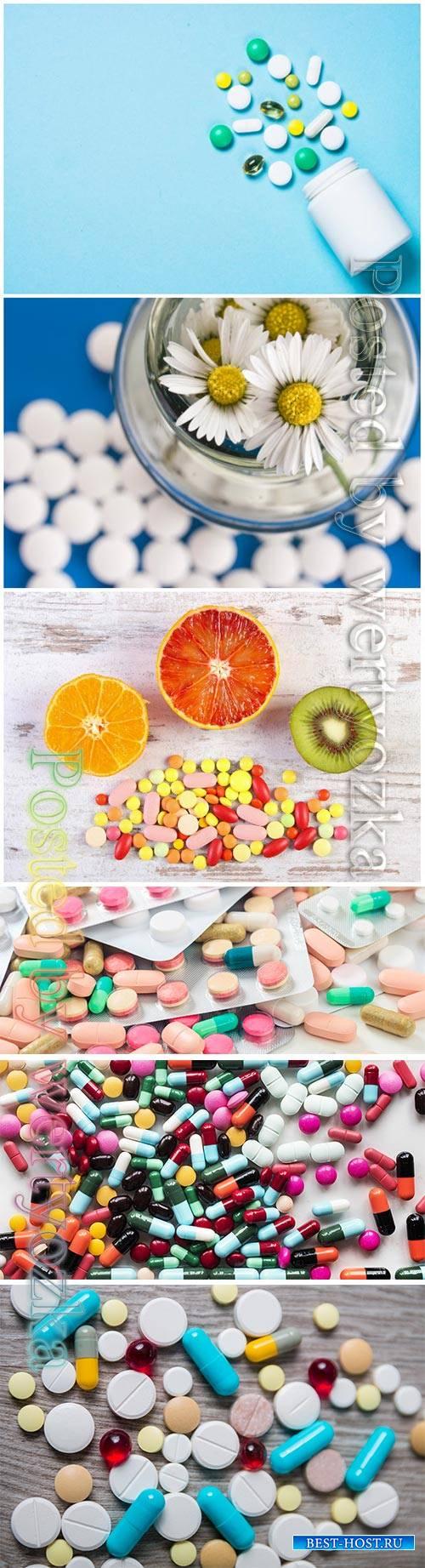 Medical pills beautiful stock photo