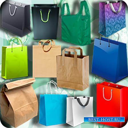 Клипарты для фотошопа - Красочные сумки