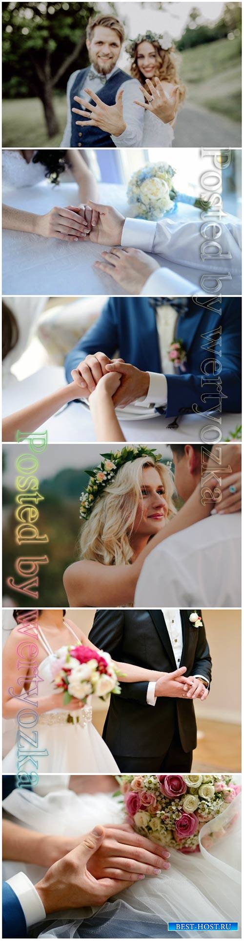 Wedding couple beautiful stock photo