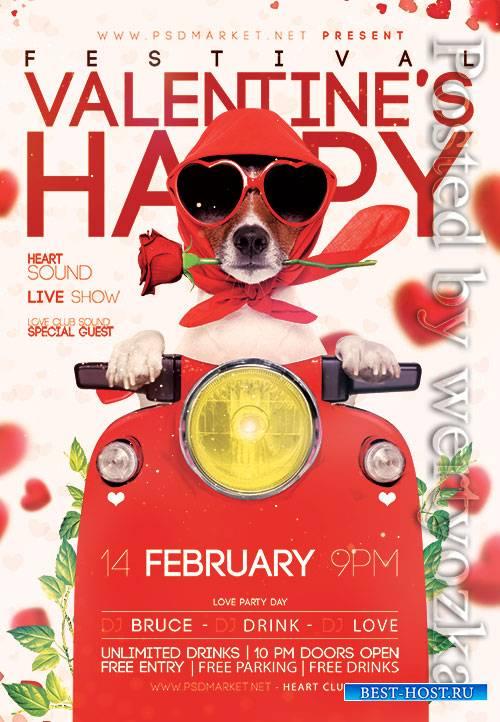 Valentines festival - Premium flyer psd template