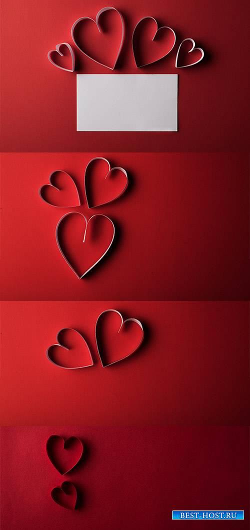 Сердца влюблённых - Растровый клипарт / Hearts of lovers - Raster clipart
