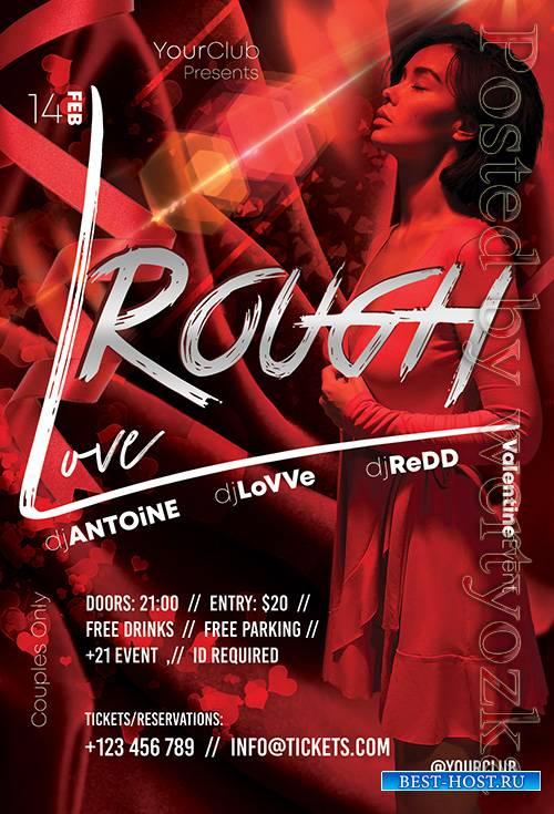 Rough Love - Premium flyer psd template