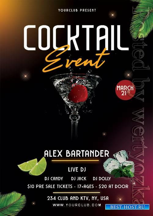 Cocktail Event - Premium flyer psd template