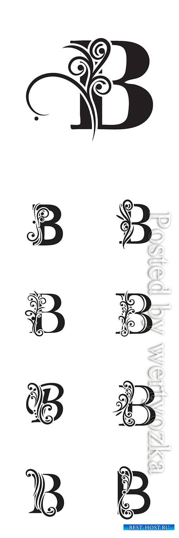 Letter B logo template vector icon design