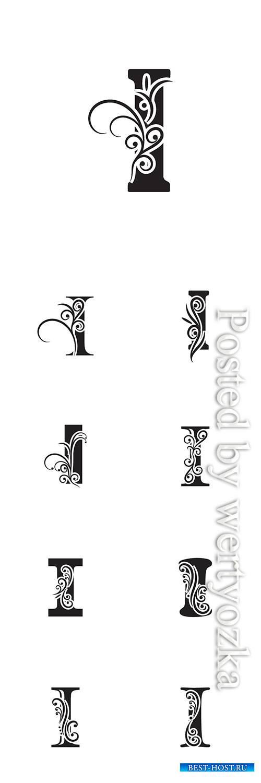 Letter I logo template vector icon design