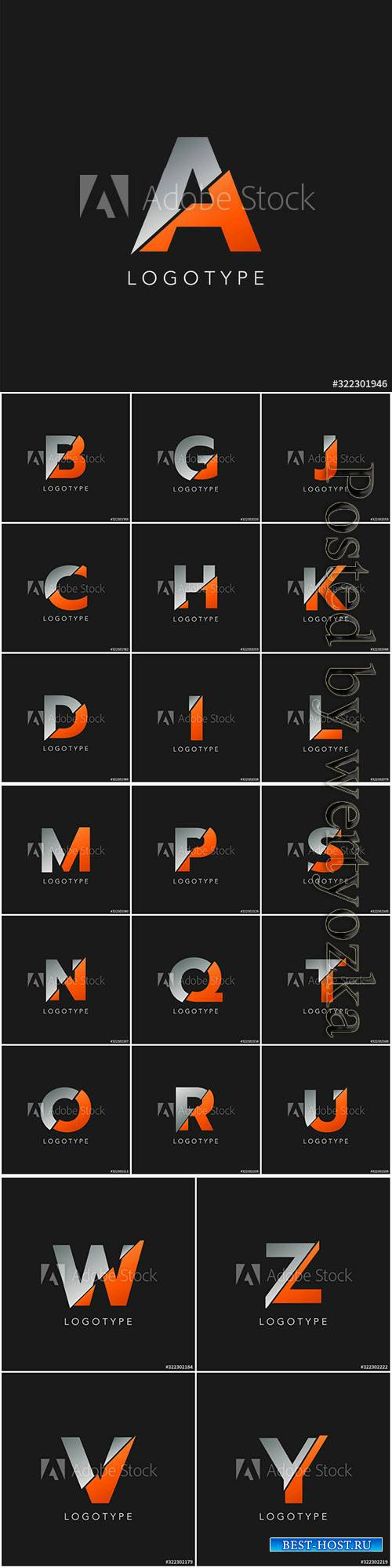 Abstract initial letter logo icon vector design concept