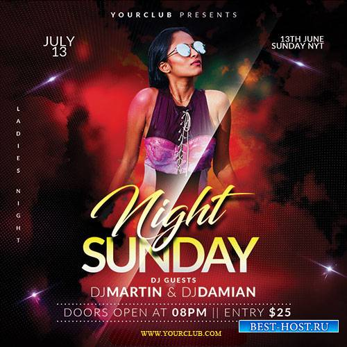 Sunday Night - Premium flyer psd template
