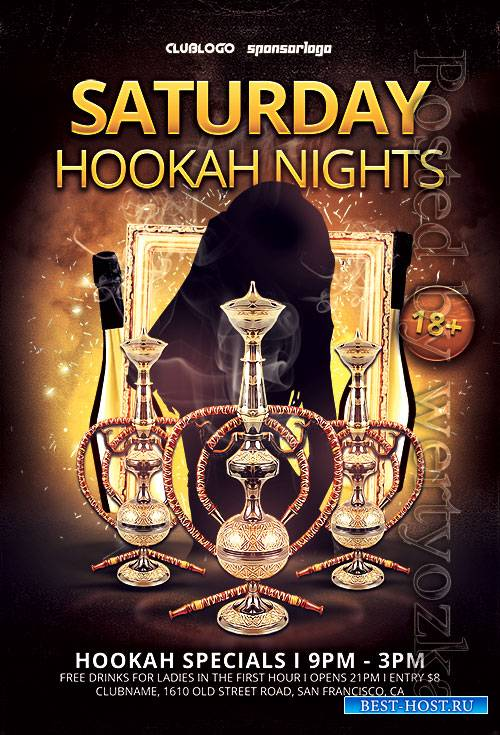 Hookah Nights - Premium flyer psd template