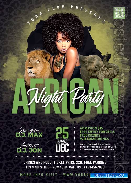 African Night Party - Premium flyer psd template