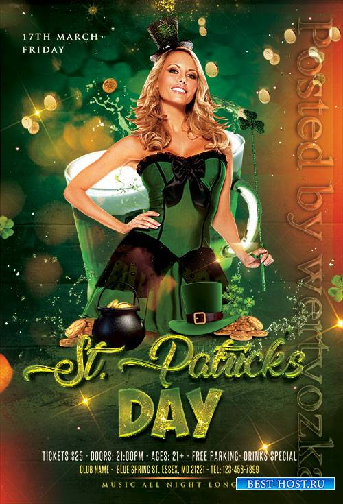 St Patricks Day - Premium flyer psd template